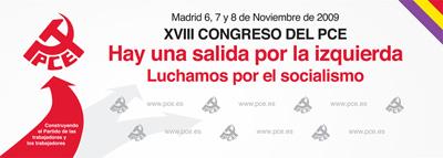 Cartel del XVIII Congreso del PCE