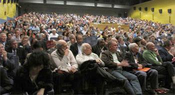 Invitados y delegados asistentes al XVIII Congreso del PCE