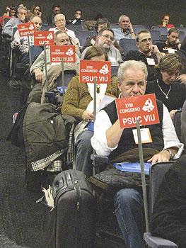 Delegados durante el XVII Congreso del PCE