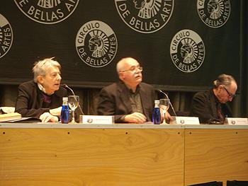 Miguel Abensour, Juan Calatrava y Vicenç Navarro