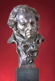 Estatuilla-Galardón de los premios Goya