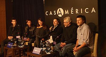 Empezando por la izquierda: Santiago Cabrera, Matías Bize, Tatiana Astengo, Javier Tolentino, Luis Estrada y Gastón Duprat