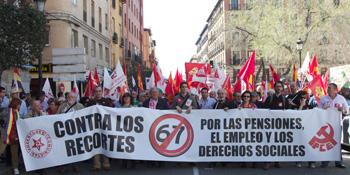 Pancarta del PCE (Foto: Andrés Aranguren)