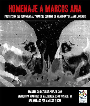 Cartel del homenaje a Marcos Ana en la Biblioteca Histórica Marqués de Valdecilla