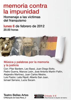 Cartel del evento Memoria contra la impunidad