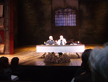 Francisco Nieva y Gerardo Vera durante el Encuentro realizado en el Teatro Valle Inclán