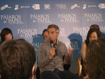Imanol Arias durante la rueda de prensa