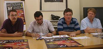Daniel Álvarez Morcillo. José Luis Centella, Andrés Díez y Ginés Fernández durante la rueda de prensa