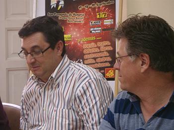 José Luis Centella y Andrés Díez