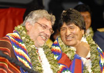 Fernando Lugo y Evo Morales en una foto de archivo