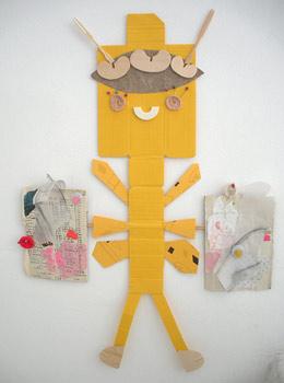 Mariposa amarilla. De la exposición Papeles apropiados en Banana Studio