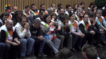 Una escena del documental Telemadrid: del ERE al despido improcedente