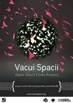 Cartel del cortometraje Vacui Spacii