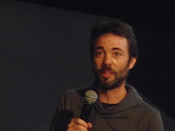 Marcos M. Merino presentando su documental en el SEFF (foto: Toni Gutiérrez)
