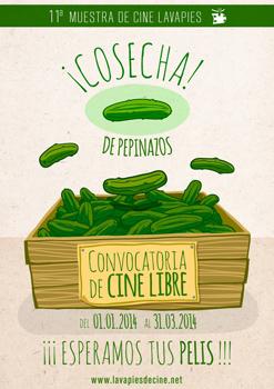 Cartel de la convocatoria de Cine Libre para la 11ª Muestra de Cine de Lavapiés