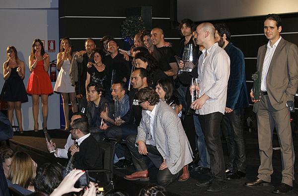 Foto con los ganadores de ZonaZine de la 15 edición del Festival de Málaga Cine Español