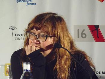 Isabel Coixet durante la rueda de prensa de Ayer no termina nunca (Foto: Toni Gutiérrez)