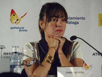Candela Peña durante la rueda de prensa de Ayer no termina nunca (Foto: Toni Gutiérrez)