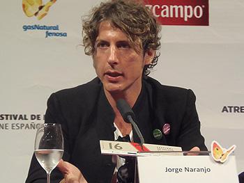El director Jorge Naranjo durante la rueda de prensa de Casting (Foto: Toni Gutiérrez)