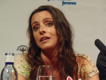 La actriz Ingrid Rubio durante la rueda de prensa de La Estrella (Foto: Toni Gutiérrez)