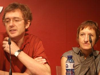 José Fernández -presidente de la PNR- y Elena Medina -directora del Festival- durante la rueda de prensa de presentación