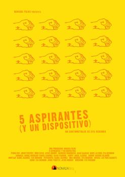 Cartel del cortometraje 5 aspirantes (y un dispositivo)