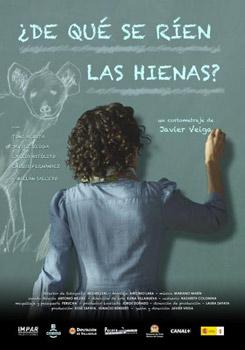 Cartel del cortometraje ¿De qué se ríen las hienas?