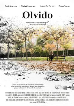 Cartel del cortometraje Olvido
