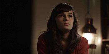 Andrea Dueso en una escena del cortometraje Marina