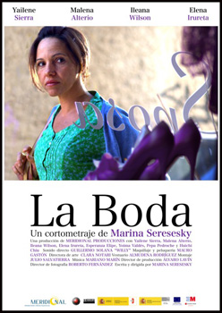 Cartel del cortometraje La boda
