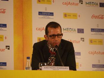Joao Pedro Rodrigues director de «Morrer como um homem» durante la rueda de prensa