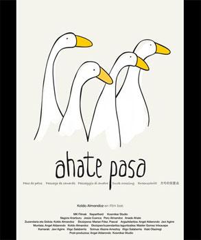Cartel del cortometraje «Ahate pasa»
