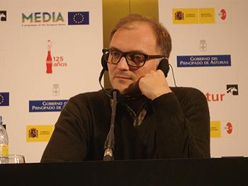 Markus Schleinzer, director de la película Michael, durante la rueda de prensa de presentación