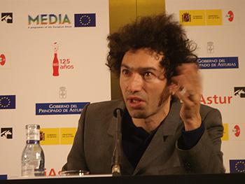 Azazel Jacobs, director de la película Terri, durante la rueda de prensa de presentación