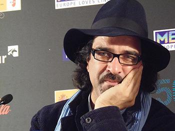 Atiq Rahimi, director de la película Syngué Sabour / The patience stone durante la rueda de prensa de presentación