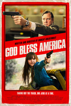 Cartel de la película God Bless America de Bobcat Goldthwai t