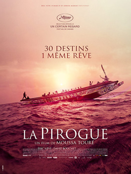 Cartel de la película La Pirogue / The Pirogue de Moussa Touré