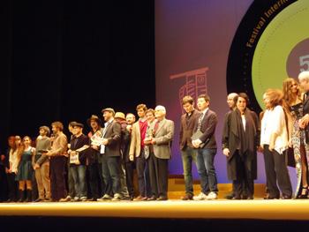 Foto de ganadores y jurados del 50 FICXixón