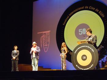 Toni Garrido, Dan Mirvish, Norma Ruiz y Diego García Cruz en la gala de clausura de anoche