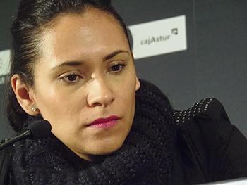 Claudia Sainte-Luce durante la rueda de prensa