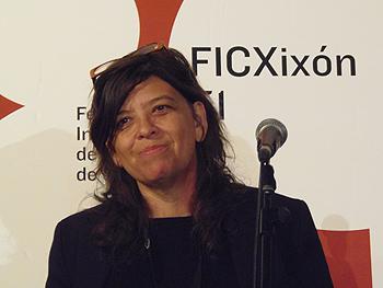 Mariana Rondón durante su encuentro con el público