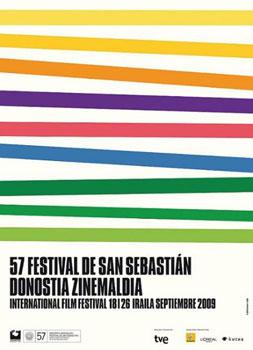 Cartel de la 57 edición del Festival de Cine Internacional de San Sebastián