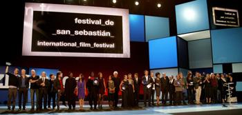 Los ganadores del 59 Festival de Cine de San Sebastián. Foto: Iñaki Pardo, por cortesía del Festival