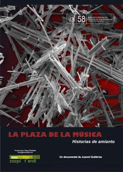 Cartel de la película La plaza de la música. Historias de amianto