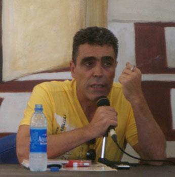Alejandro M. Gallo durante la Semana Negra de Gijón 2009 (foto: Toni Gutiérrez)