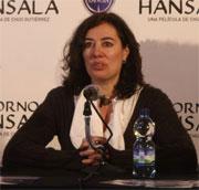 Chus Gutiérrez en la rueda de prensa de presentación de Retorno a Hansala