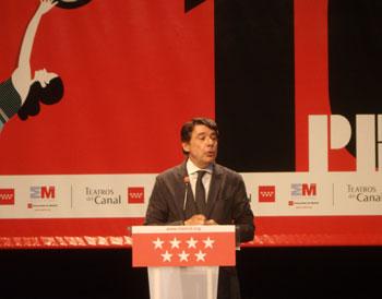Ignacio González durante la presentación de la nueva temporada