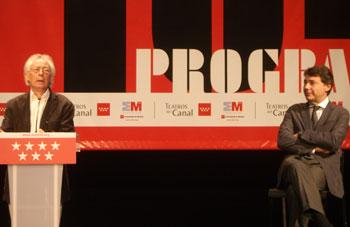 Albert Boadella e Ignacio González durante la presentación de la nueva temporada