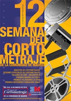 Cartel anunciador de la 12 Semana del Cortometraje de la Comunidad de Madrid