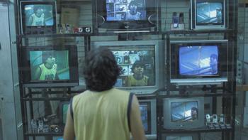 Celso Franco en una escena de la película 7 cajas